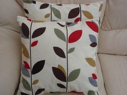 Throw Pillow Cinnamon Red Brown Black Grey Gray Green