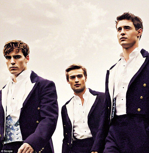 Gorgeous toffs in the film The Riot Club.