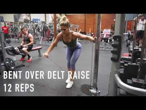 SHREDDED Back And Bicep Workout For Women -Whitney Simmons ...