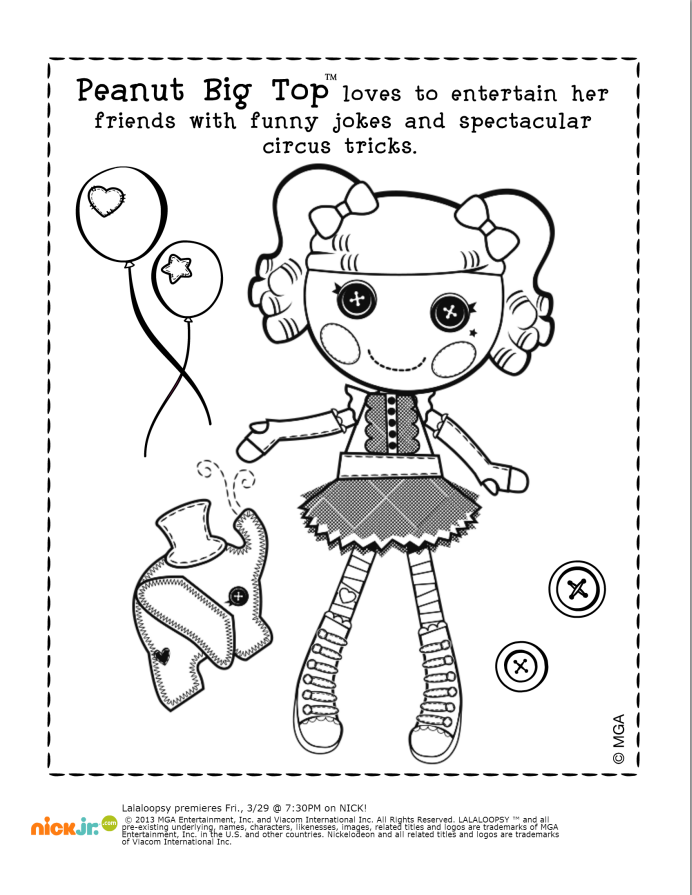 For fun before the show starts! Peanut Big Top Coloring Pack ...