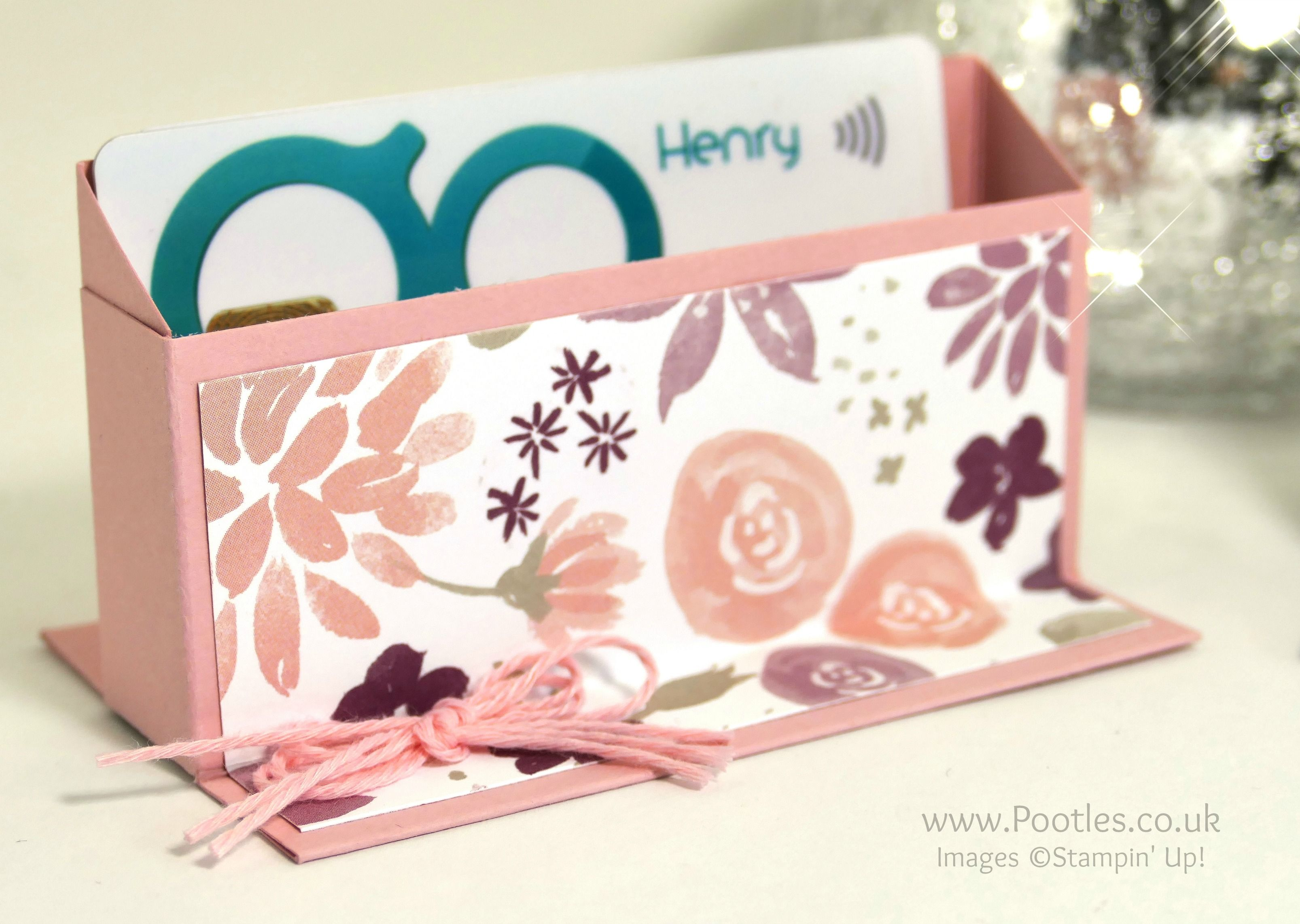 Pootles Way Back Wednesday Business Card Holder Diy Business Cards Business Card Holders Scrapbook Paper Crafts