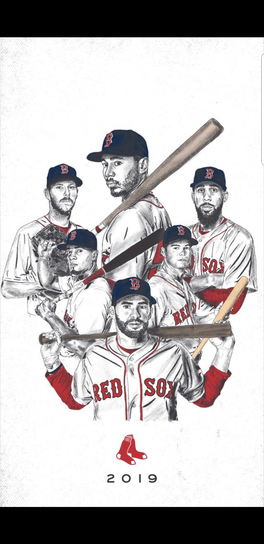 2019 Red Sox   Boston red sox players, Boston red sox ...