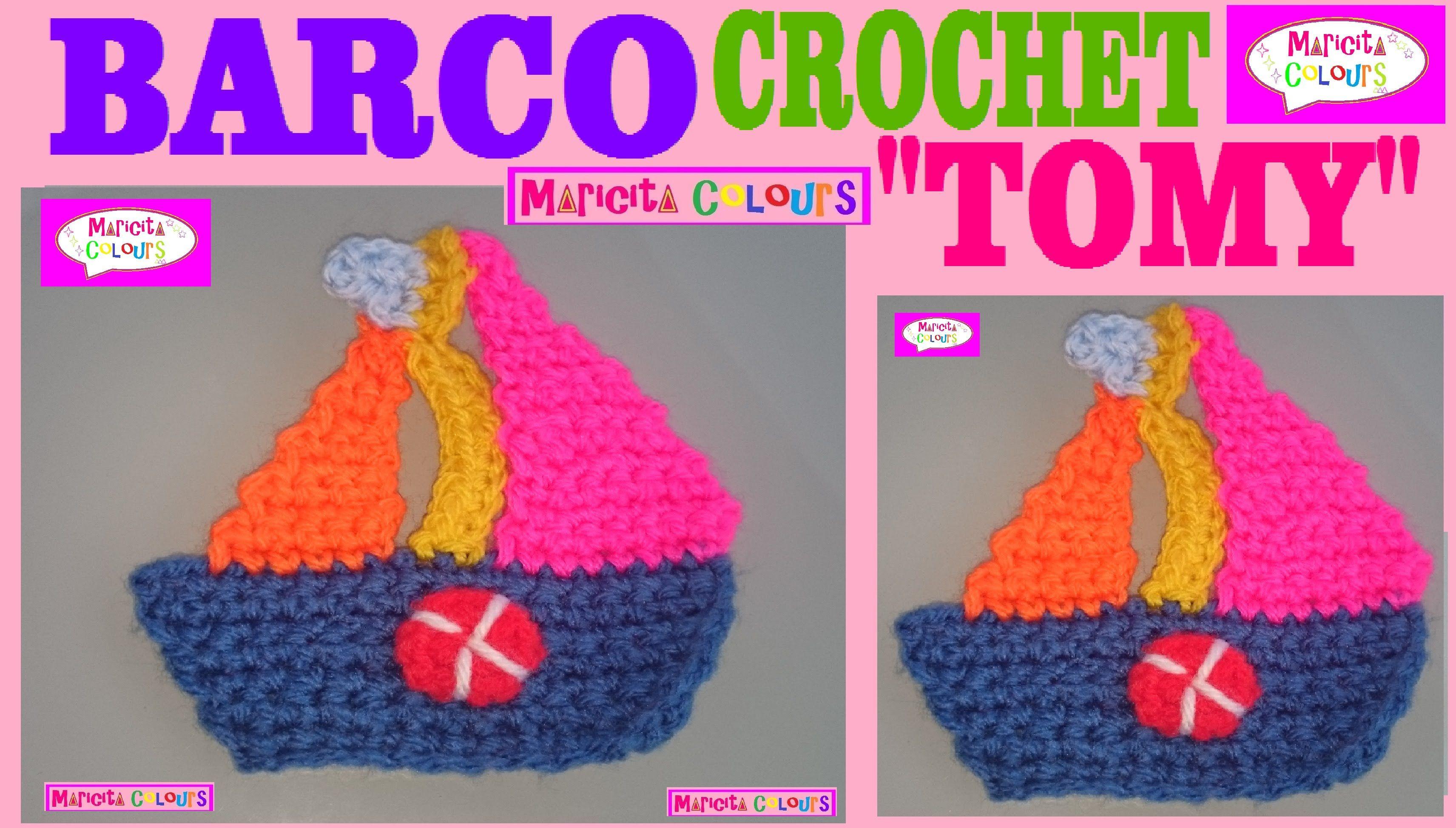 Crochet Barquito Tomy Aplicación Por Maricita Colours