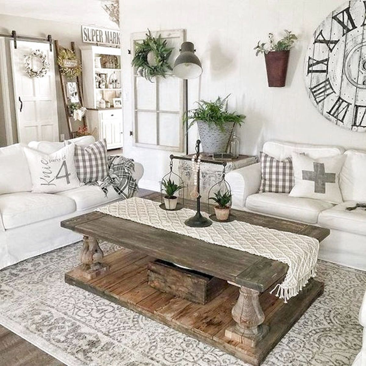 101 Best Farmhouse Living Room Decoration Ideas Farmhouse D