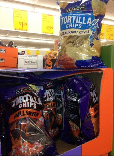 Aldi Halloween Black And Orange Tortilla Chips 1 49 Chips Tortilla Chips Aldi