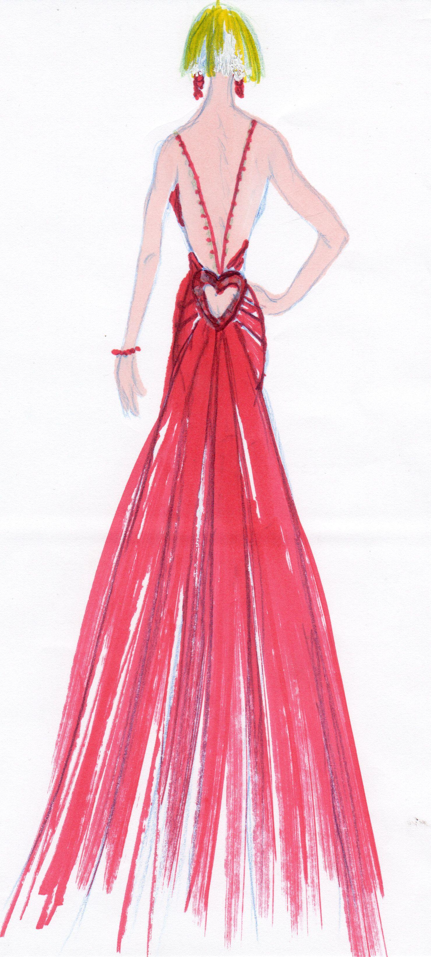 Dorable Prom Dresses Sketches Colección de Imágenes - Colección del ...