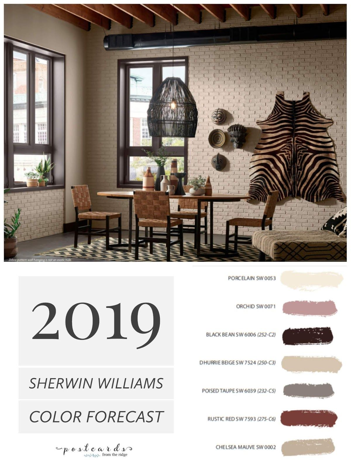 2019 Paint Color Forecast from Sherwin Williams House