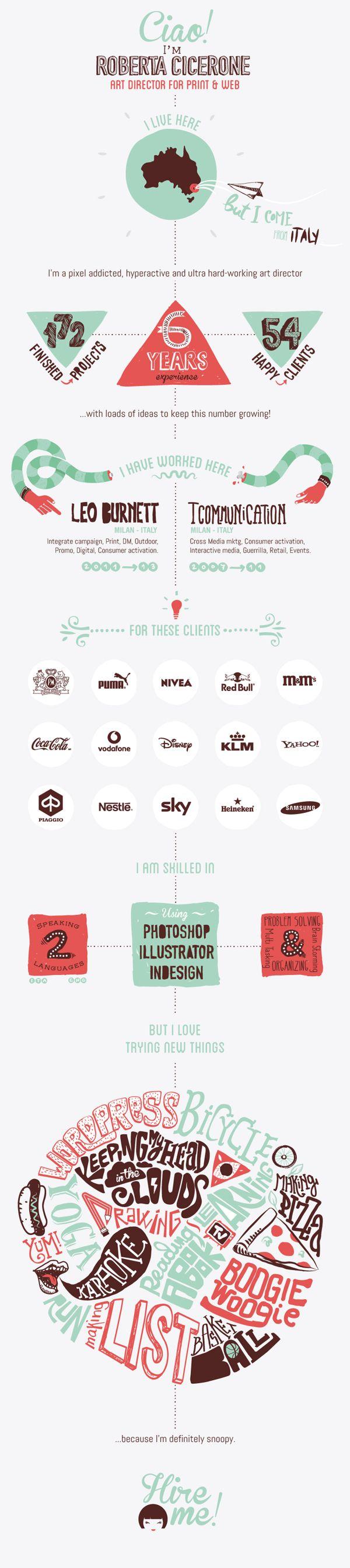 A Graphic Designeru0027s Creative Infographic Style Resume