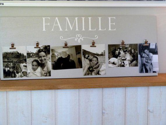 Porte photo personnalisable Cadeau fête des grands mères, Noel ou maman. Pêle mèle