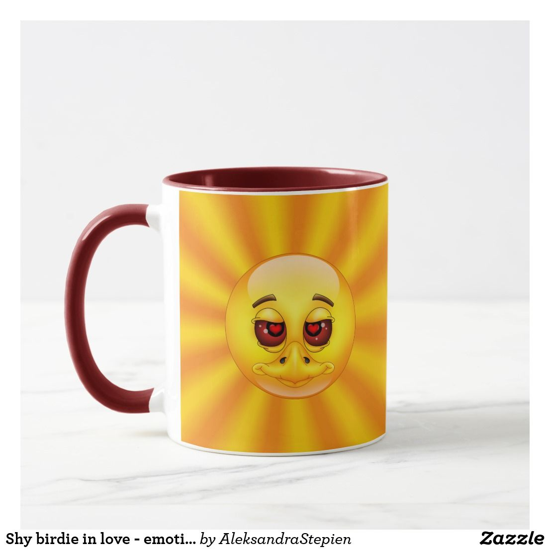 Shy Birdie In Love Emoticon Mug Zazzle Com Mugs Emoticon Cute Gifts