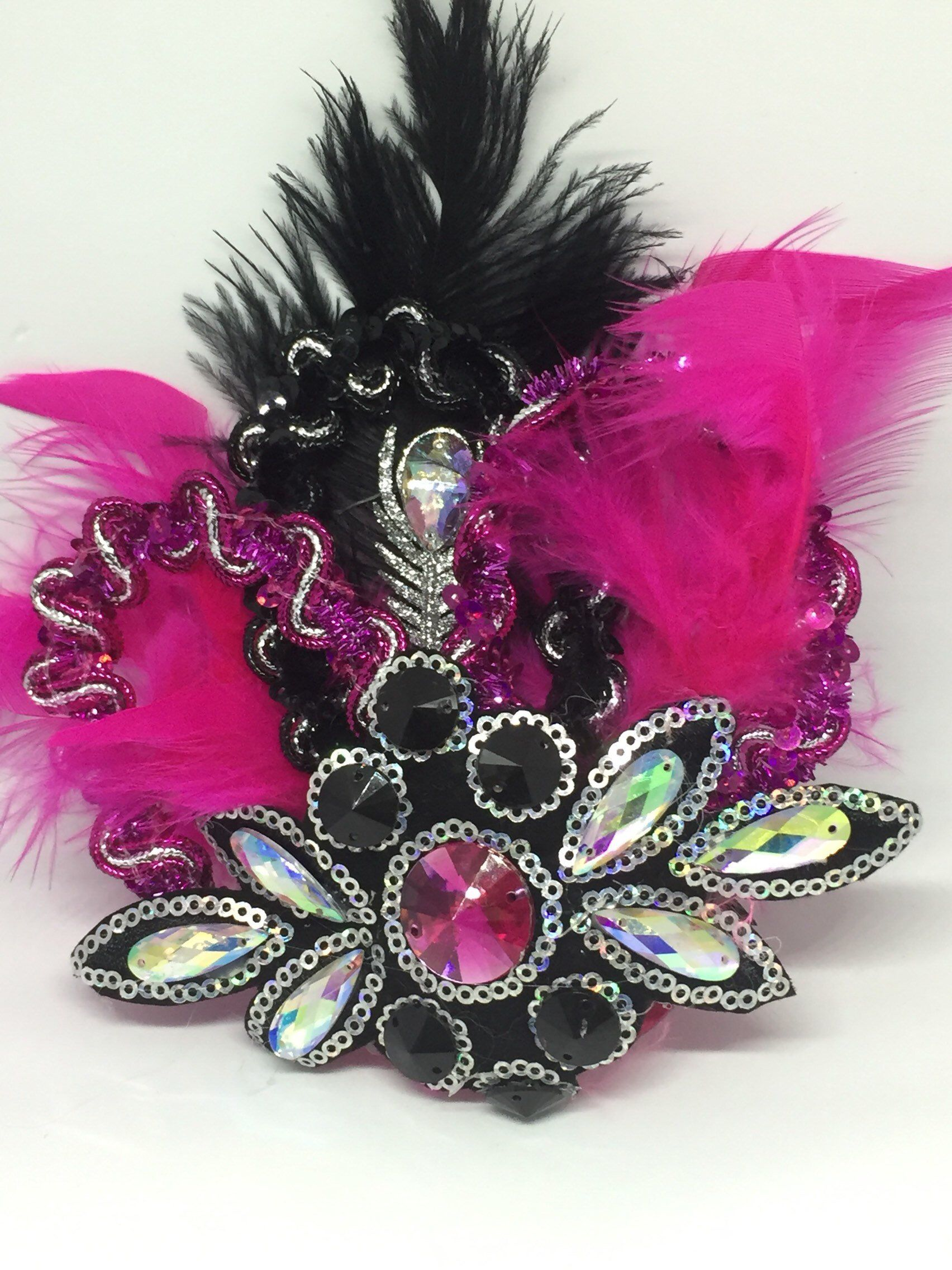 b42e96fc Excited to share the latest addition to my #etsy shop: Black and Pink  headpiece