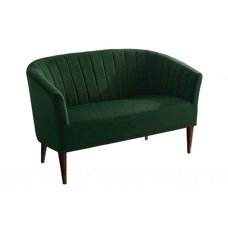 This Green Velvet Sofa Is Perfect For A Small Space Compact Proportions Width 130cm Depth 70cm Height 8 Sofas For Small Spaces 2 Seater Sofa Seater Sofa
