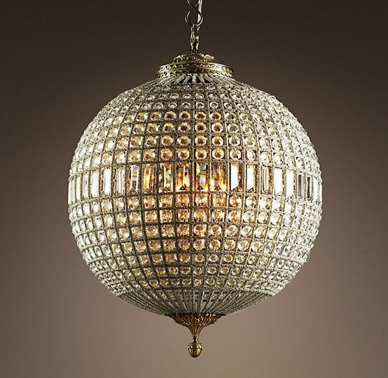 Crystal globe chandelier by marylou