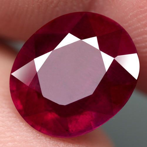 7.24CT.FABULOUS! OVAL FACET TOP BLOOD RED NATURAL RUBY MADAGASCAR #GEMNATURAL