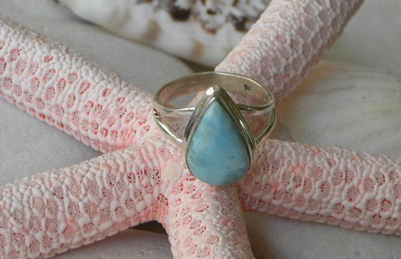 Hey, I found this really awesome Etsy listing at https://www.etsy.com/listing/241480051/larimar-ring-handmade-natural-lovely