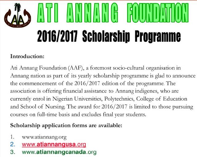 HOW TO APPLY FOR ATI ANNANG FOUNDATION 2016 2017 SCHOLARSHIP - scholarship form