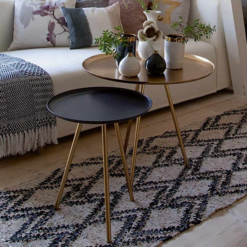 Tischgruppe Nesting 2er-Set Schwarz\/Gold von Au Maison - wohnzimmer gold schwarz