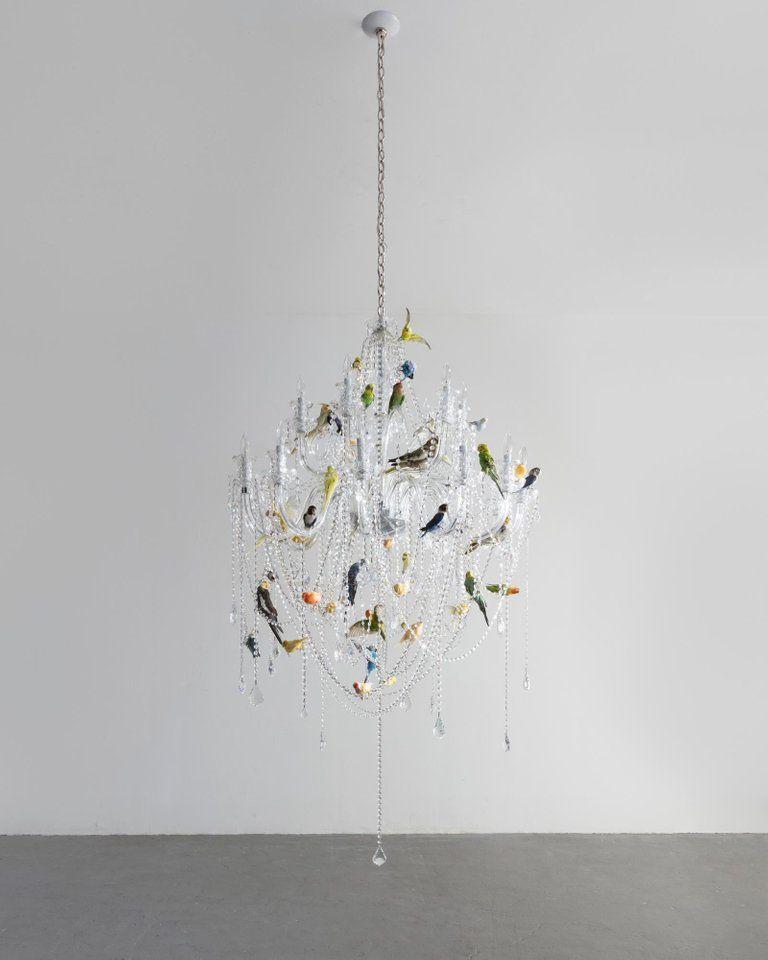 bird chandelier crystal chandelier