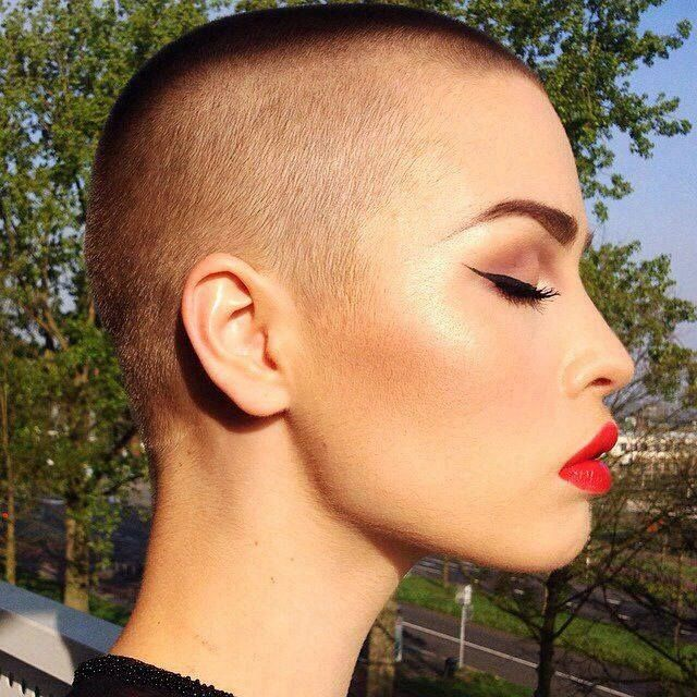 On My Bucket List Now Shave My Head Once In This Lifetime And Feel Great About It Buzzed Hair Short Hair Styles Shaved Head