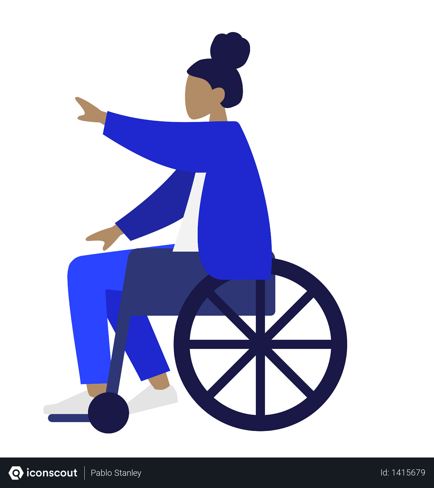 Free Handicapped Woman Sitting On Wheelchair Illustration Download In Png Vector Format Vector Illustration People People Illustration Illustration