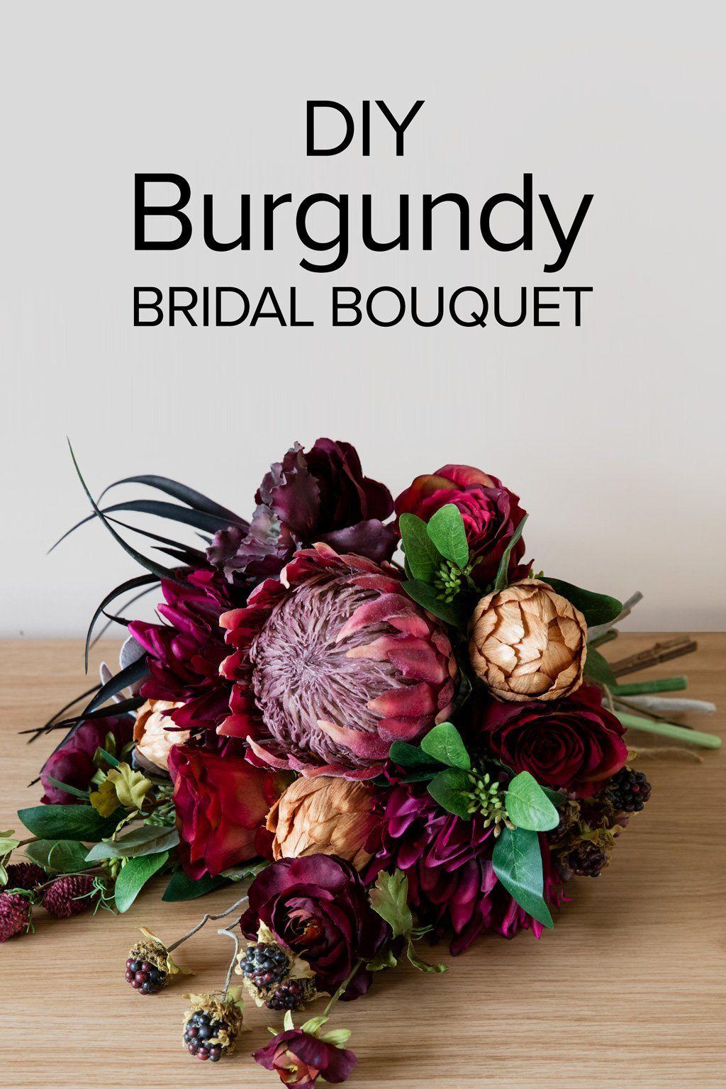 Burgundy Bridal Bouquet Diy wedding bouquet, Burgundy