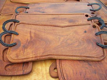 Tabla de asado 2 herraduras tablas asado pinterest for Como hacer una tabla para picar de madera