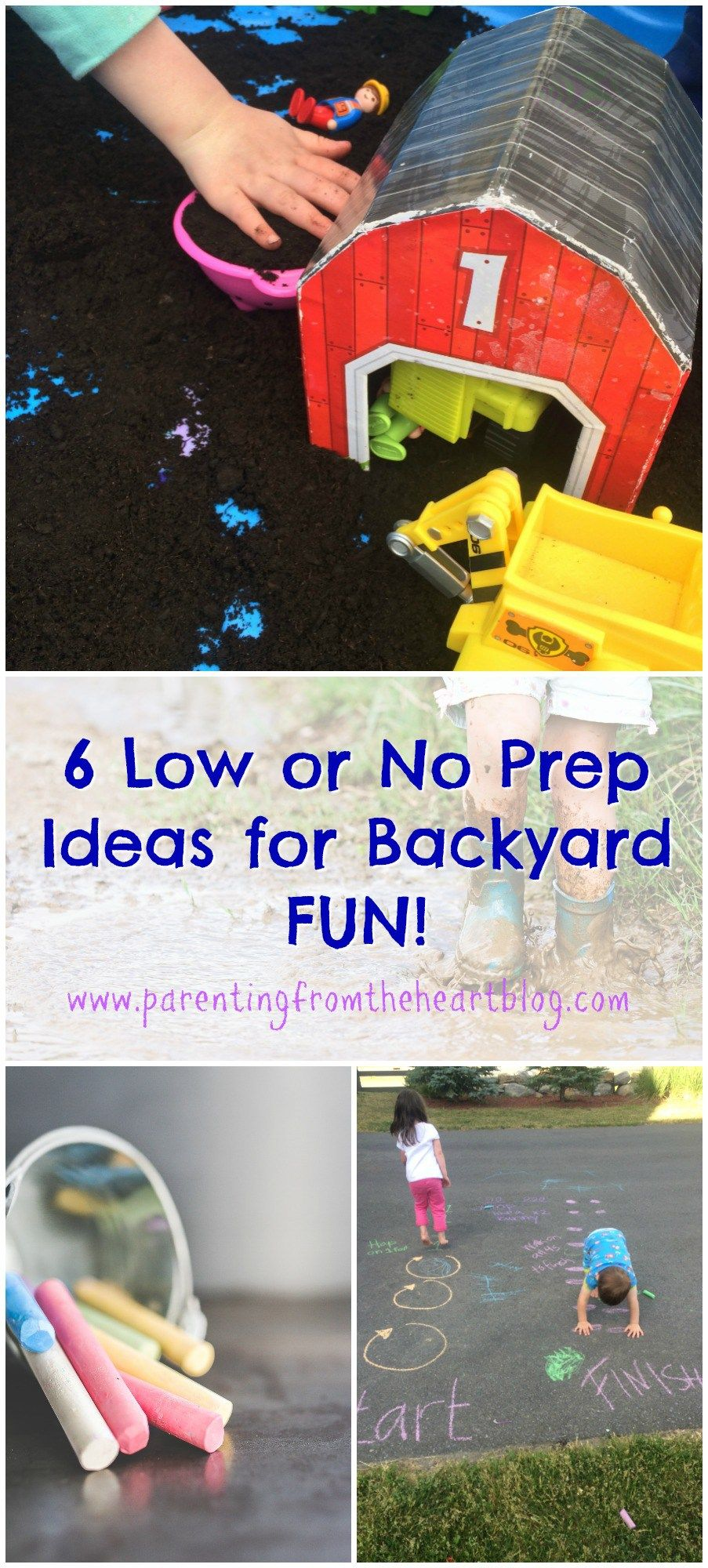 low or no prep backyard activities for young kids activities