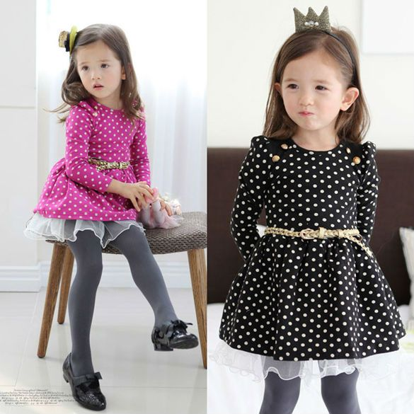New-2014-Spring-Winter-Baby-Kids-Girl-Clothing-Girls-Solid-Dot-Princess-Party-Dresses-Kids-Dress.jpg (585×585)