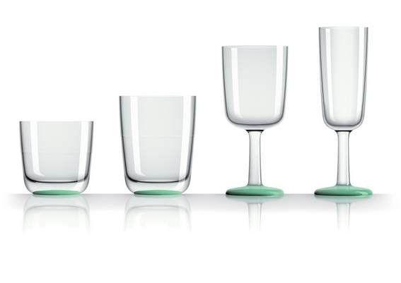 verres antidérapants vert phosphorescent pack de 4 verres. existe