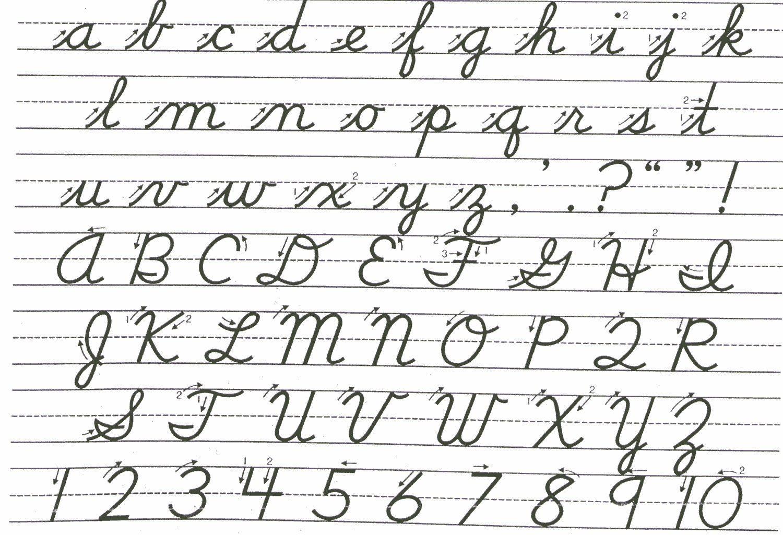 Cursive Handwriting Improvement Worksheets For Kids
