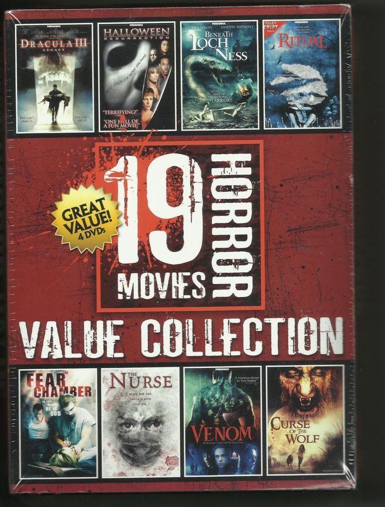 Halloween Dvd Box Set.19 Horror Movies 4 Dvd Value Collection Box Set Halloween