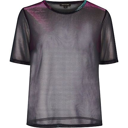 Metallic purple sheer T-shirt £24.00
