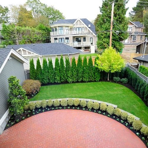 Privacy landscaping ideas ideas pictures remodel and for Backyard privacy landscaping trees