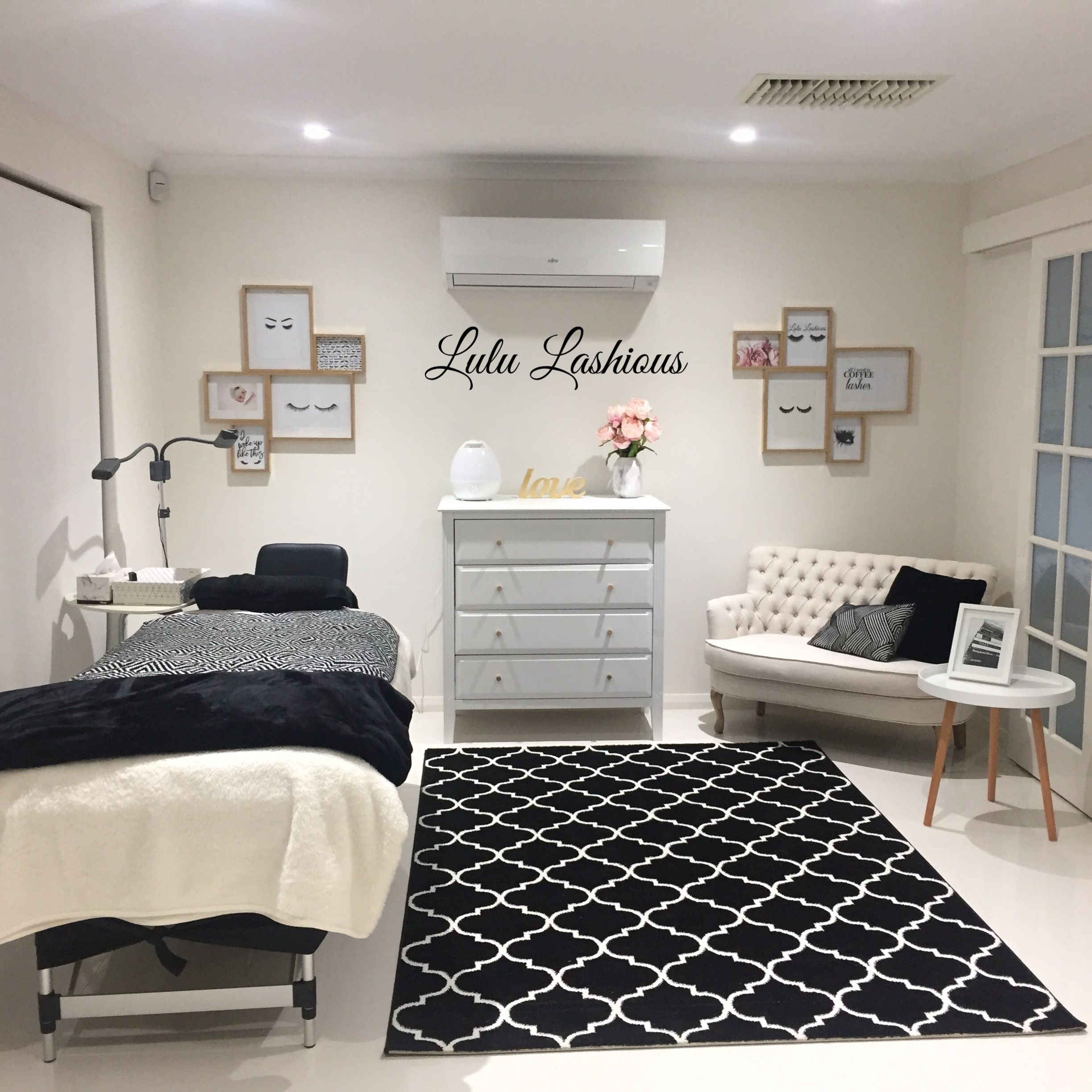 Salon Spa My Lash Room Home Salon In 2019 Lash Room Room