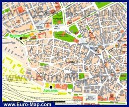 Karta Centra Goroda Varna S Dostoprimechatelnostyami Karta Kurorty