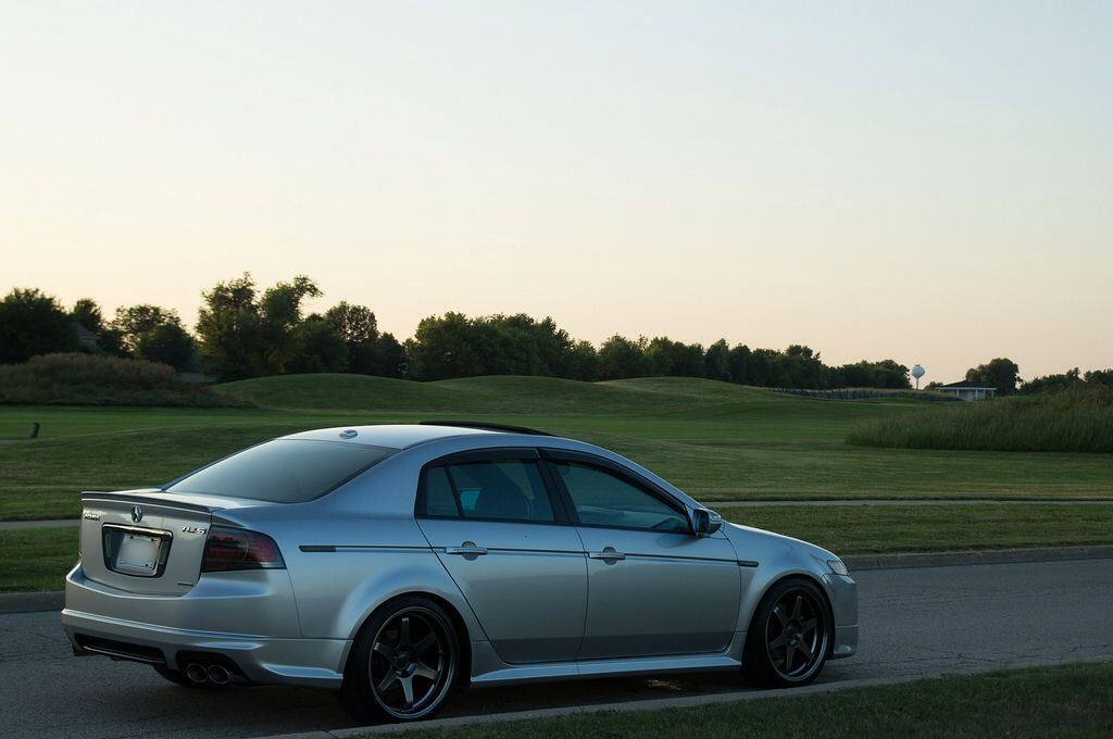 Alabaster Silver Acura Tl Type S With Aspec Body Kit And 19 Rims