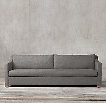Petite Belgian Classic Slope Arm Upholstered Sofa