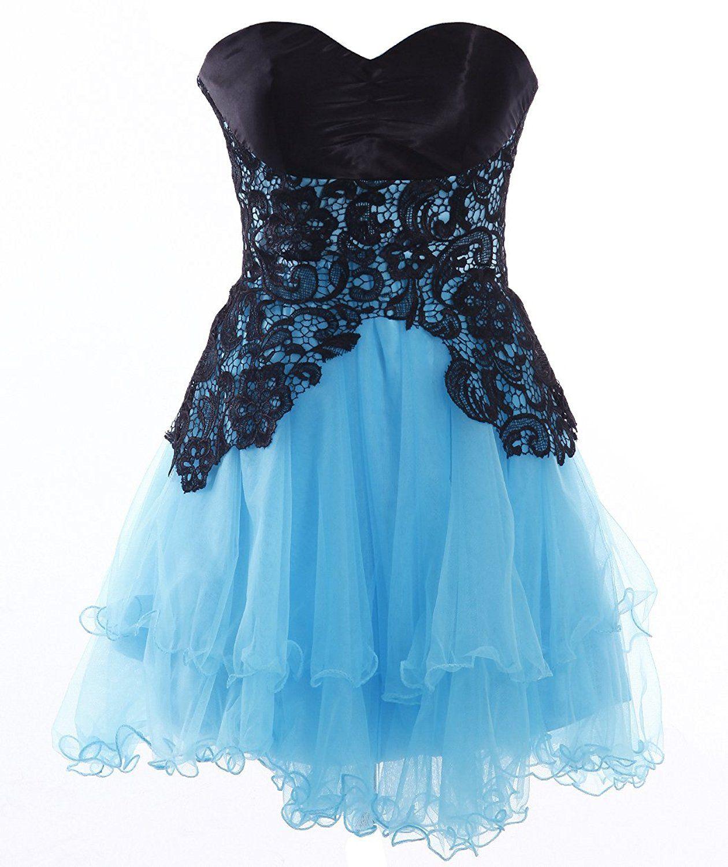 FAIRY COUPLE Short Short Strapless Sweetheart Prom Dress Tulle ...