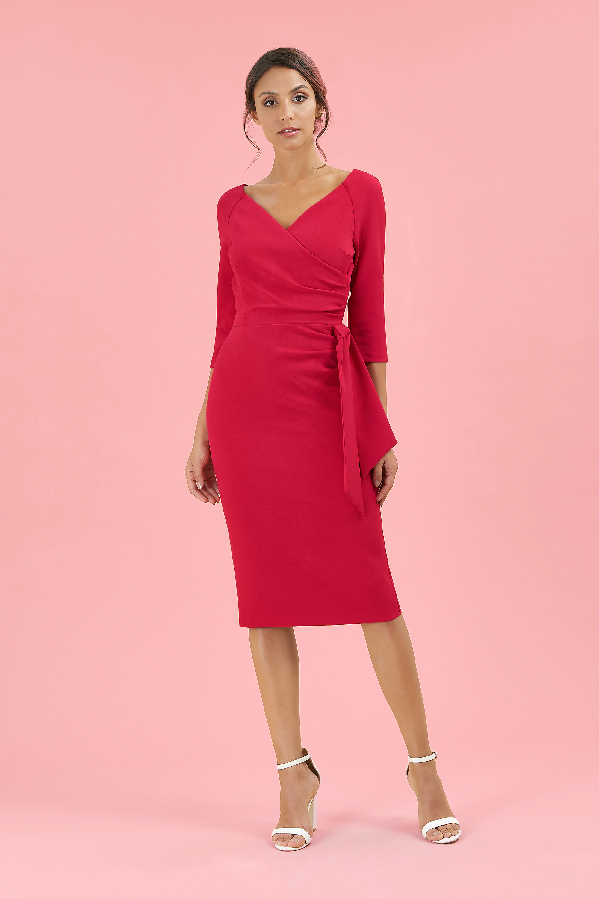 89958506d96 The Hourglass Mid-Sleeve Pencil Dress