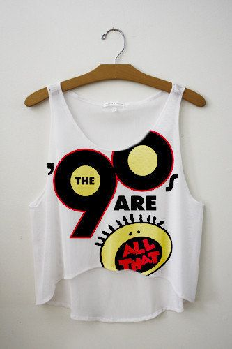 I Loved All That All That 90s Tank Top Vintage Fashion Hipster Tops Fresh Tops Cute Crop Tops