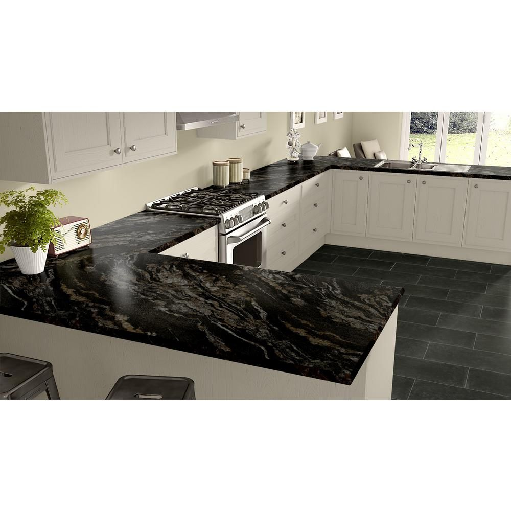 Wilsonart 4 Ft X 8 Ft Laminate Sheet In Magnata With Hd Mirage Finish 1880k353764896 The Home Depot Laminate Kitchen Kitchen Countertops Laminate Countertops