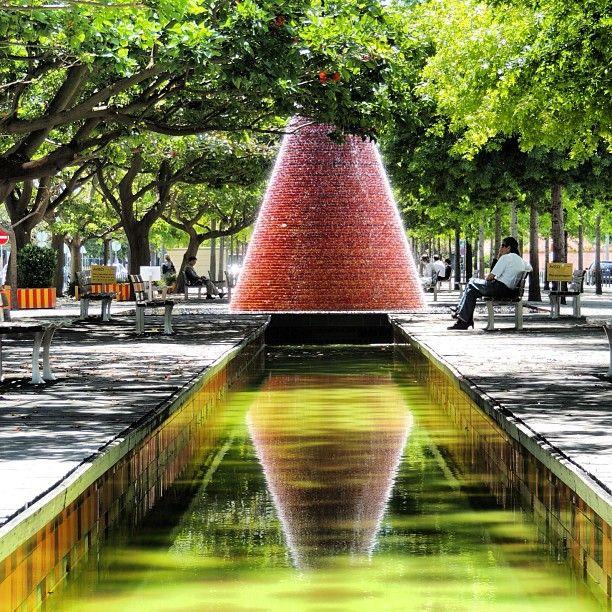 Vulcões de água do parque das Nações