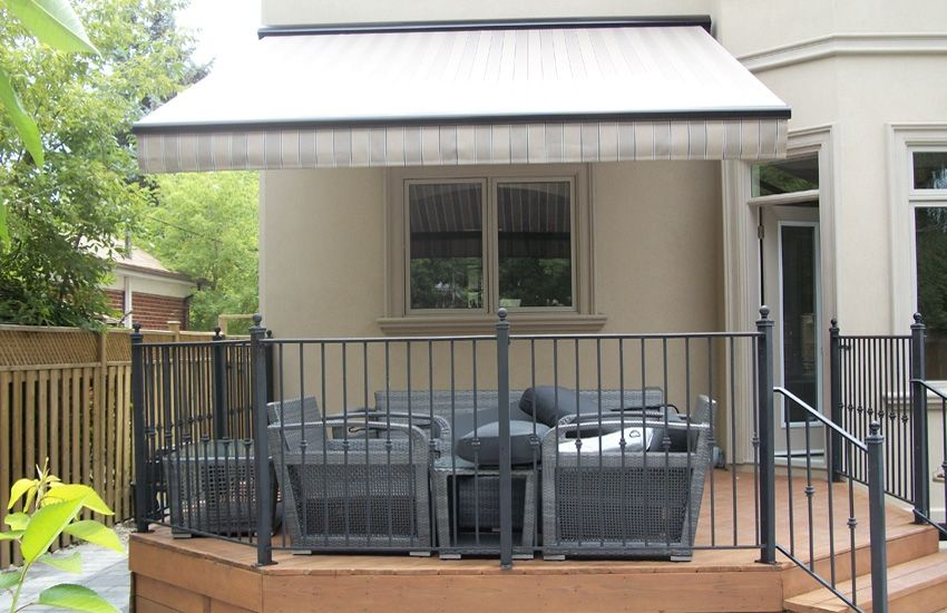 Stationary And Extenda Rolltec Retractable Awnings Toronto Ontario Canada Retractable Awning Awning Residential