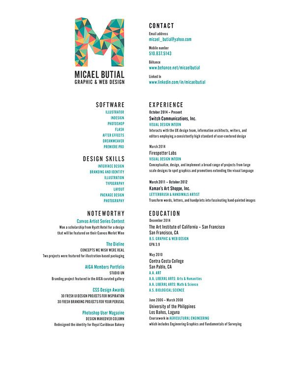 Love everything about this resume! The left and right - resume center