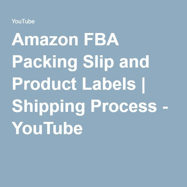 Amazon FBA Packing Slip and Product Labels | Shipping