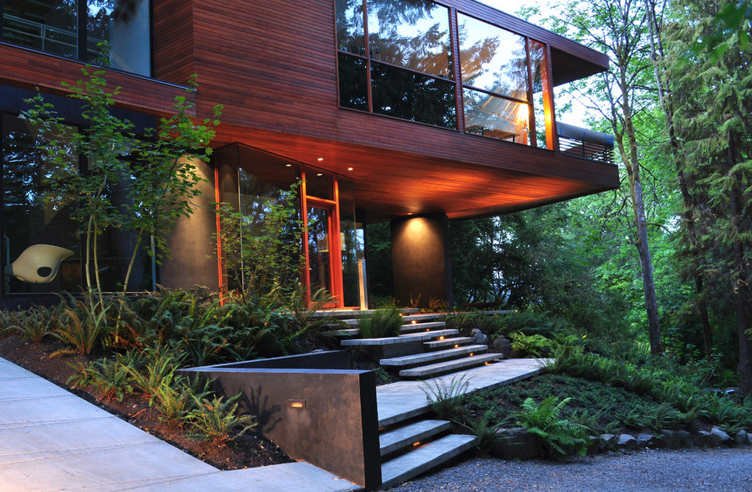 By Ink Studio Landscape Architecture Twilight House Architecture House Architecture
