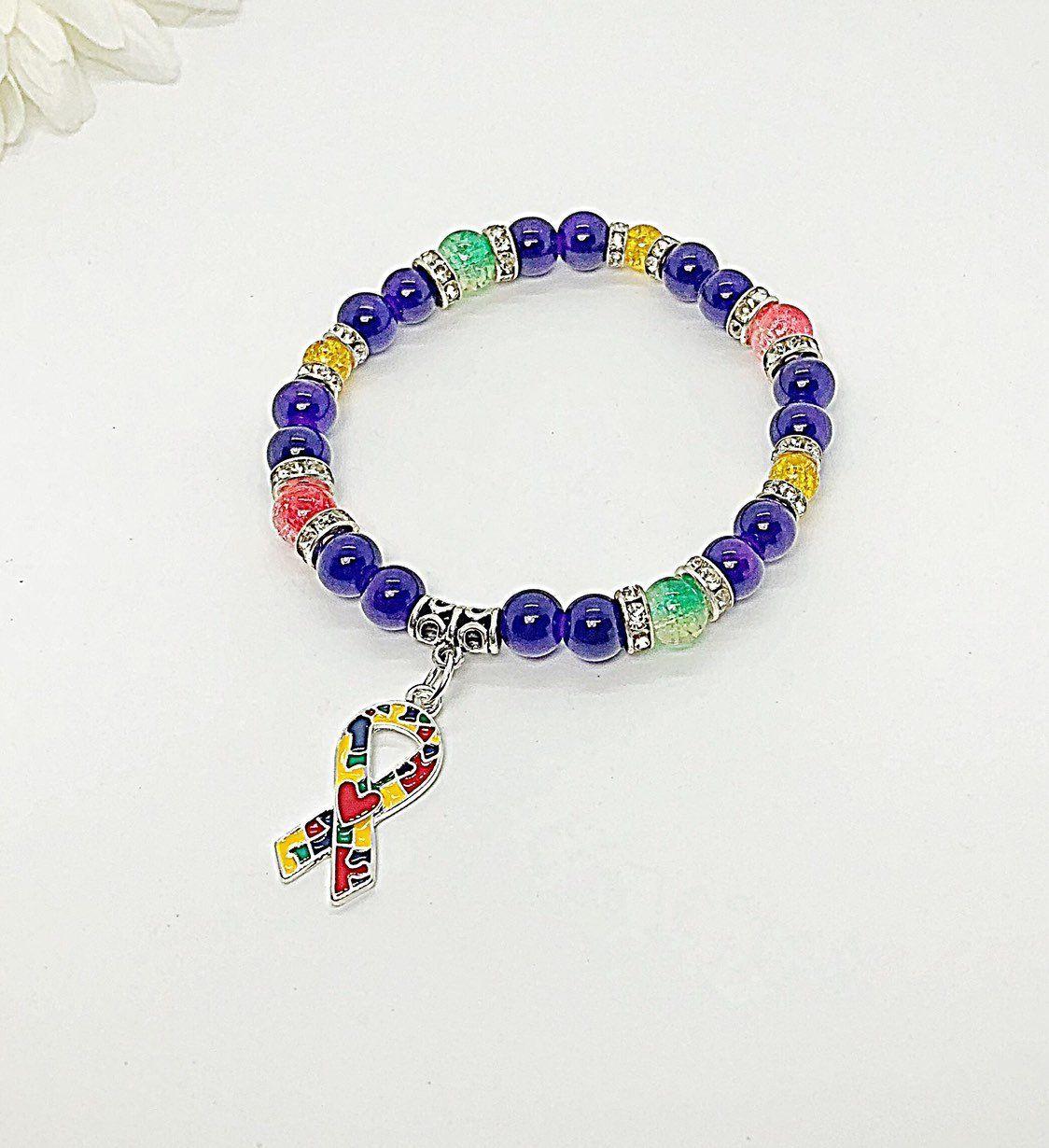 Pin By Bevasbracelets On Autism Bracelets In 2020 Autism Awareness Bracelet Autism Bracelets Awareness Jewelry