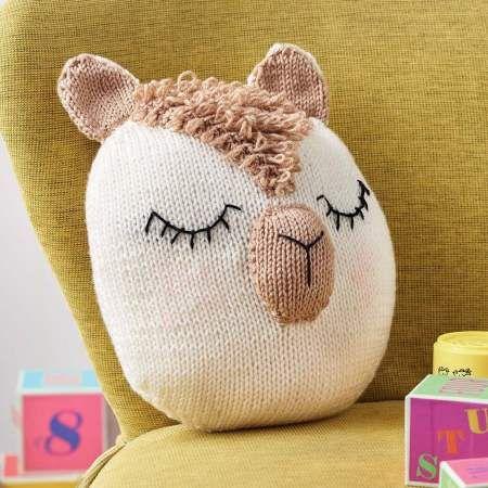 Alpaca Cushion | Knitting Patterns | Let's Knit Magazine