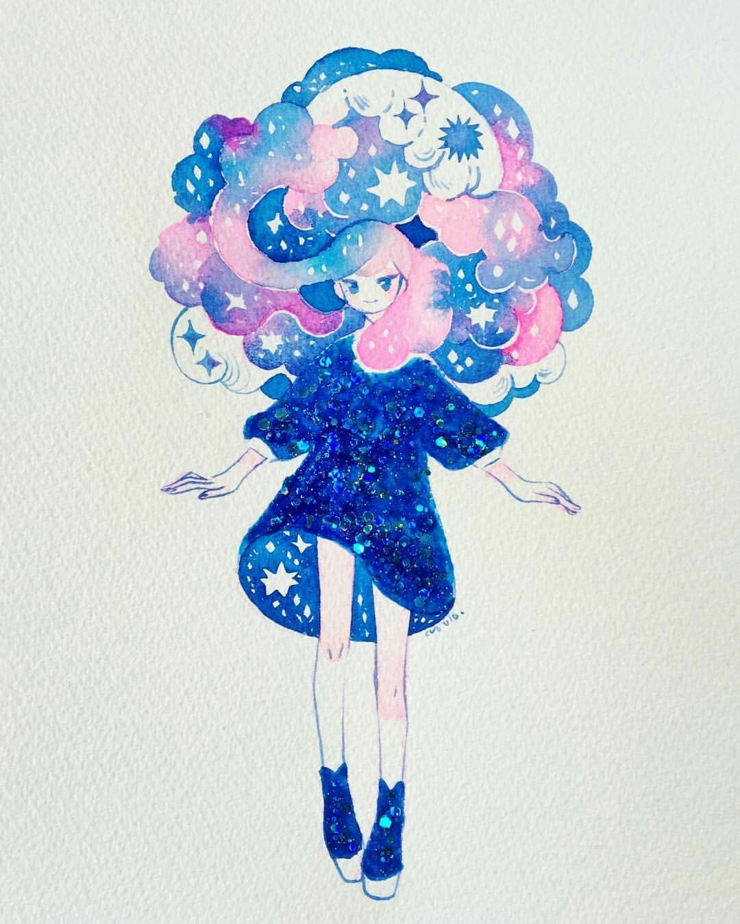Koyamori; watercolor and nail polish | Illustrations ...