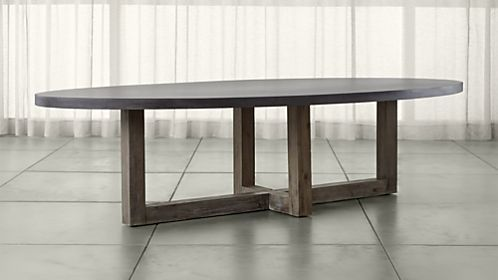 Woodward Oval Dining Table With Solid Wood Base Oval Dining Room